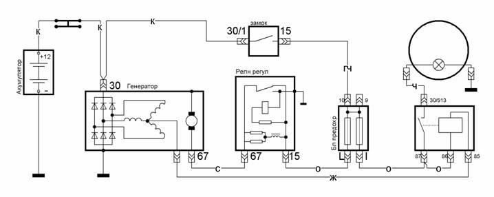 Схема регулятора напряжения ваз фото 406